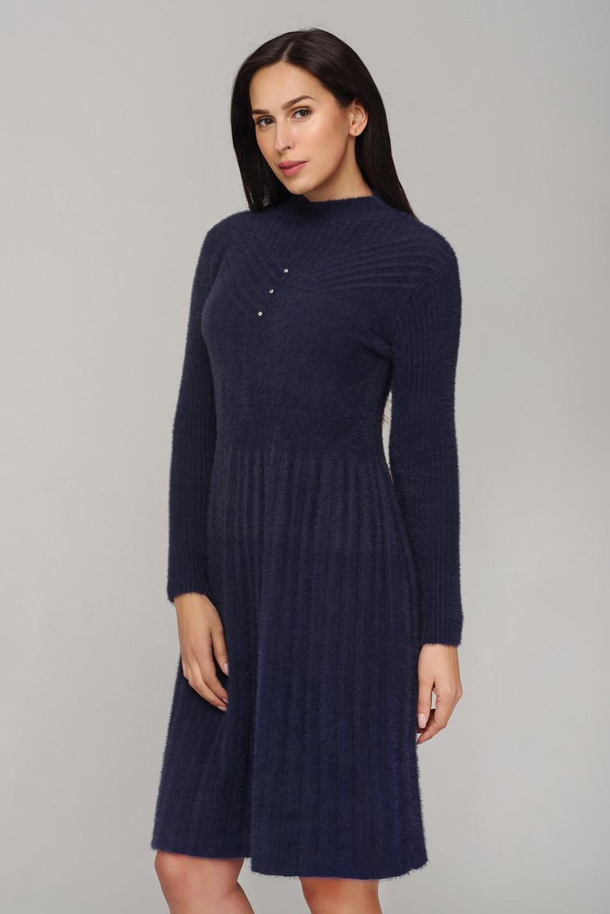 Теплое платье из ангоры.Альпака