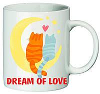"""Чашка с принтом """"Dream of love"""""""