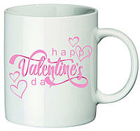 """Чашка с принтом """"Happy Valentines day"""""""
