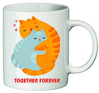 "Чашка с принтом ""Together forever"""