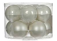 """Елочные шарики """"House of Seasons"""" комплект 10 шт, цвет белый"""
