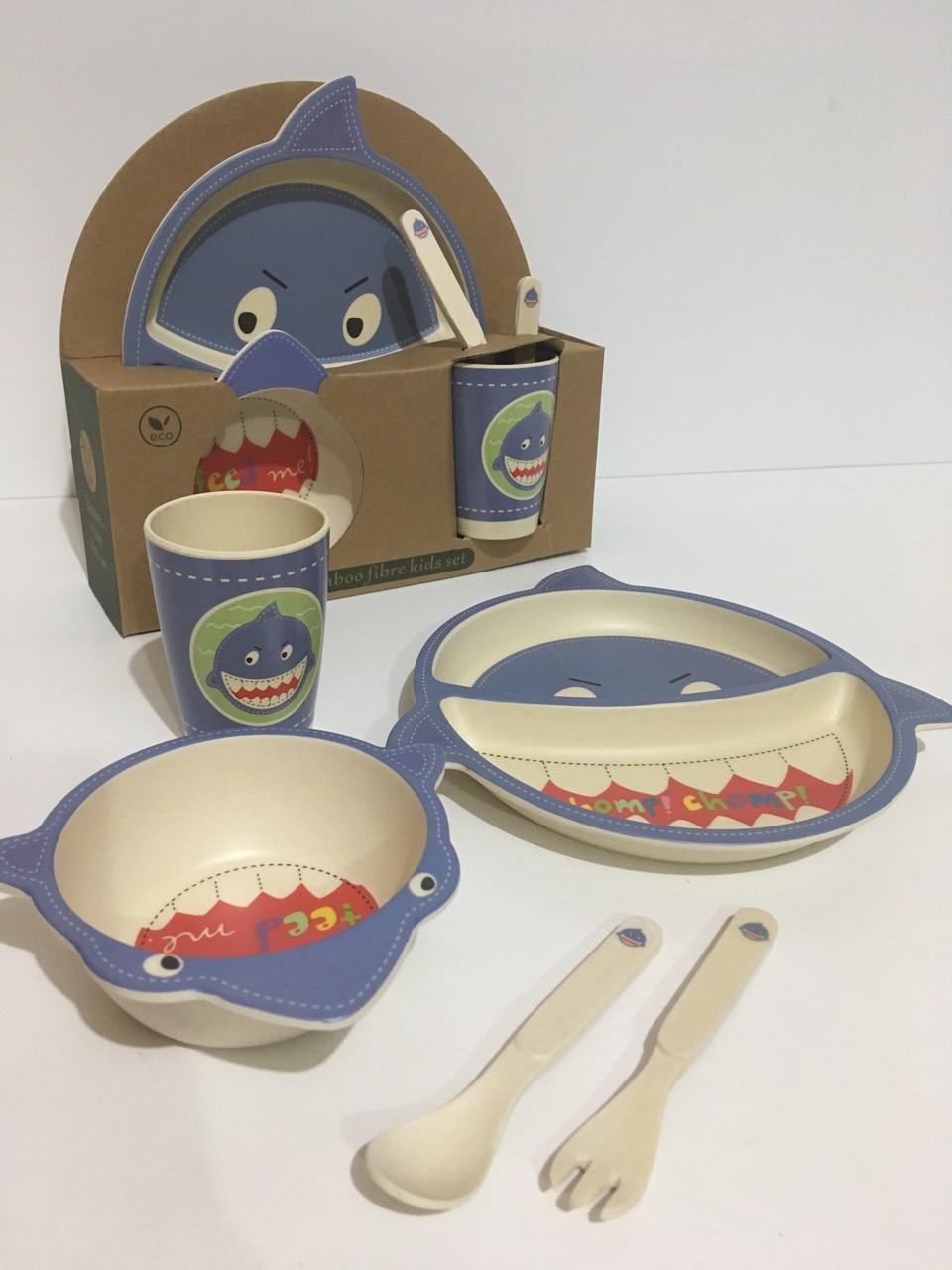 Набор детской бамбуковой посуды 5в1 EL-246-1 (24 шт/ящ)