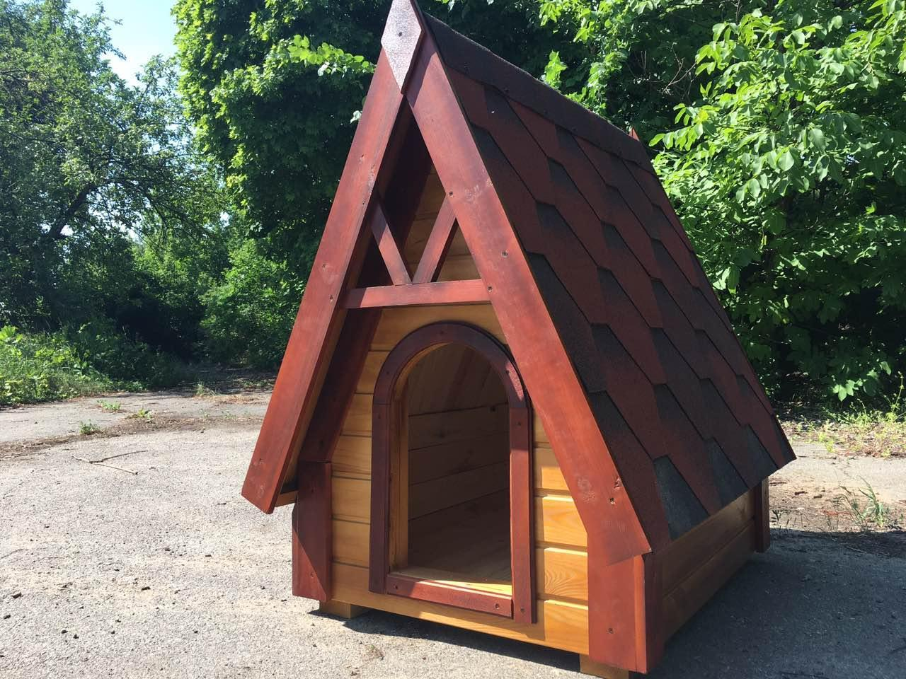 """Деревянная будка """"Вигвам"""" для собак"""