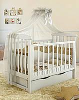 Дитяче ліжечко Angelo Lux-7 Біле