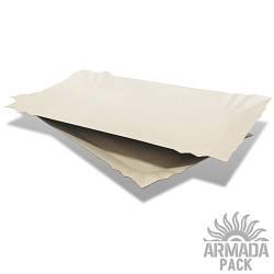 Тарелка картонная прямоугольная 14*25 см -100шт