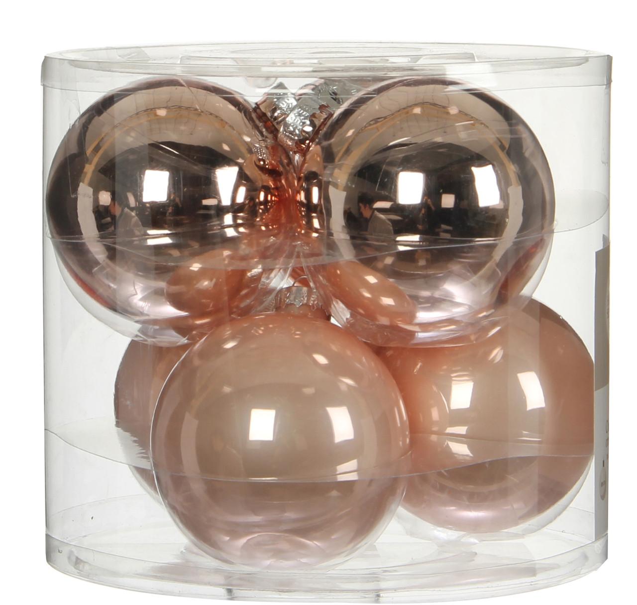 """Елочные шарики """"House of Seasons"""" комплект 6 шт, цвет розовый"""