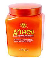 Маска для жирной кожи головы с замороженной морской грязью Angel Professional