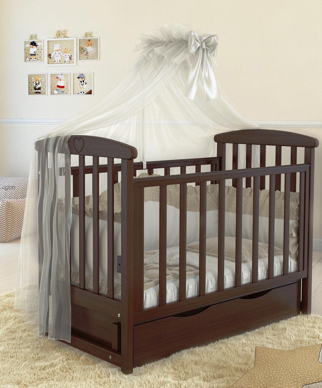 Дитяче ліжечко Angelo Lux-7 Темний горіх