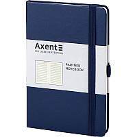 Записная книга блокнот Axent Partner 125x195мм 96л линия,синий (8308-02-A)