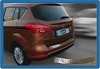 Ford B-Max 2012+ гг. Накладка на задний бампер OmsaLine (нерж.)