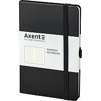 Записная книга блокнот Axent Partner 125x195мм 96л линия,черный (8308-01-A)