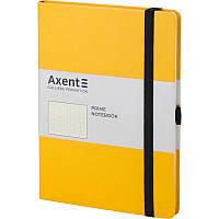 Записная книга блокнот Axent Partner Prime 145x210мм 96л точка,желтый (8304-08-A)