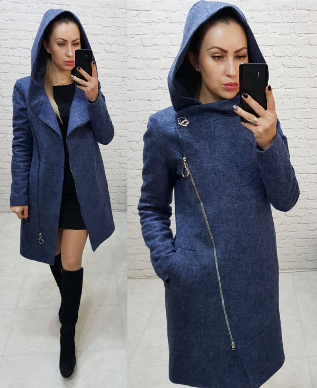 Пальто женское с капюшоном, цвет 05,зима, модель  136