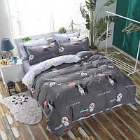 Стильное постельное белье Мопсы