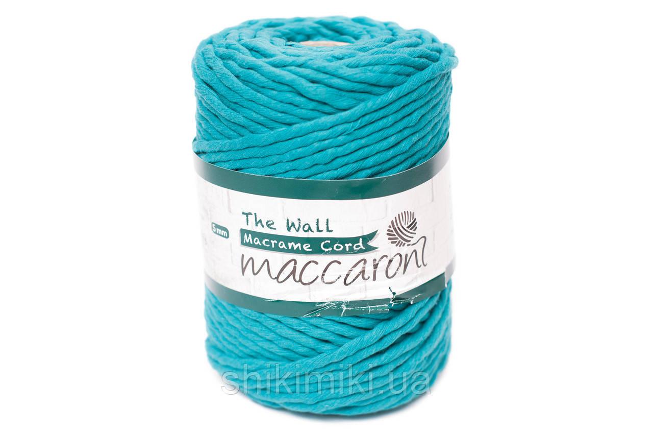 Эко шнур Macrame Cord 5 mm, цвет Морская волна
