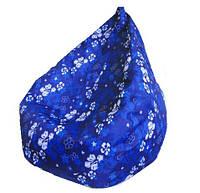 Кресло груша Принт Синие Цветы TIA-SPORT, фото 1
