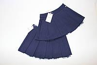 Юбка - плиссе детская для девочек, юбки синие на 09 месяцев, на 4 года, на 5 лет, AYGEY