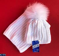 Набор детский: шапка и хомут  AE-7075