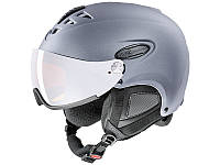 Горнолыжный шлем Uvex Hlmt 300 Visor Grey Mat 2019
