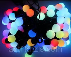 ВИДЕО-Светодиодная гирлянда шарики 100 штук средние(16мм), 10 метров, мощные диоды, новинка 2020 года
