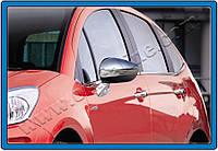 Citroen C-5 2008+ гг. Накладки на зеркала (2 шт., нерж.)