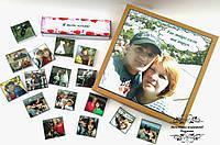 Шоколадний подарунковий набір з вашим фото та вашим текстом. Подарунок на День народження