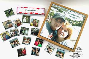 Шоколадний набір з вашим фото та вашим текстом. Подарунок на День народження, 14 лютого, Новий рік