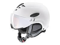 Гірськолижний шолом Uvex Hlmt 300 Visor White Mat 2019