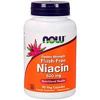 Ниацин без прилива жара 500 мг 90 капс улучшение кровообращения, для мозга, от депрессии  Now Foods USA