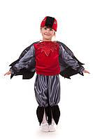 Детский карнавальный костюм для мальчика «Снегирь» 100-120 см, черно-красный, фото 1