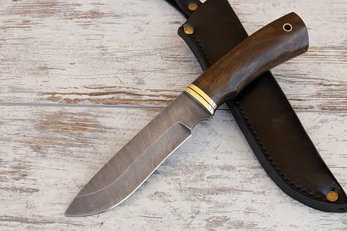 """Нож ручной работы """"Охотник"""" из дамасской стали, длина 260 мм, фото 2"""
