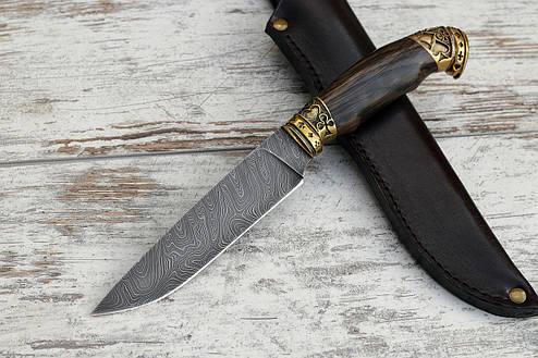 """Нож ручной работы """"Фартовый"""" из дамасской стали, фото 2"""