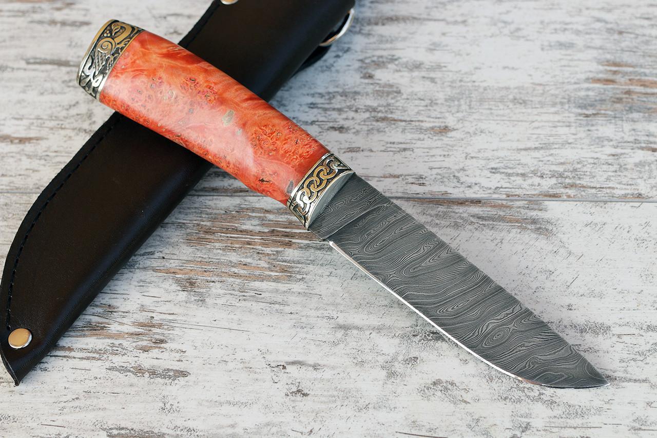 """Нож ручной работы """"Грибник"""", дамасск"""