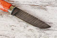 """Нож ручной работы """"Грибник"""", дамасск, фото 2"""