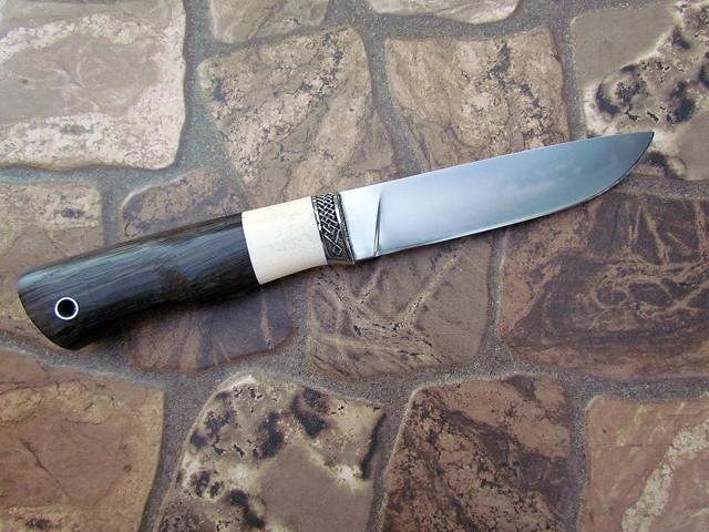 """Нож ручной работы """"Грибник"""" из порошковой стали Ди-90, длина 230 мм"""