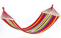 🔥 Подвесной гамак из 100% хлопка для отдыха на свежем воздухе с деревянной основой, 200х100 200х120