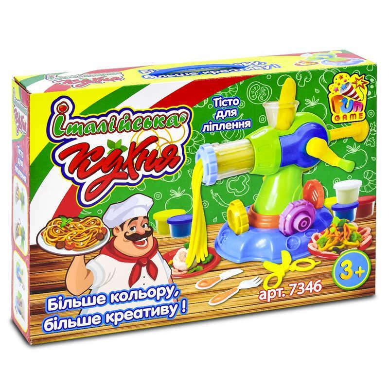 """Тесто для лепки 7346 """"Італійська кухня"""" (12) FUN GAME"""