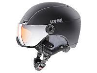 Гірськолижний шолом Uvex Hlmt 400 Visor Style Black Mat 2019