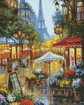 Алмазная вышивка Идейка Краски Парижа 40*50 см AM6026
