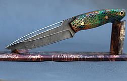 """Нож ручной работы """"Крокодил"""", из дамасска, фото 3"""