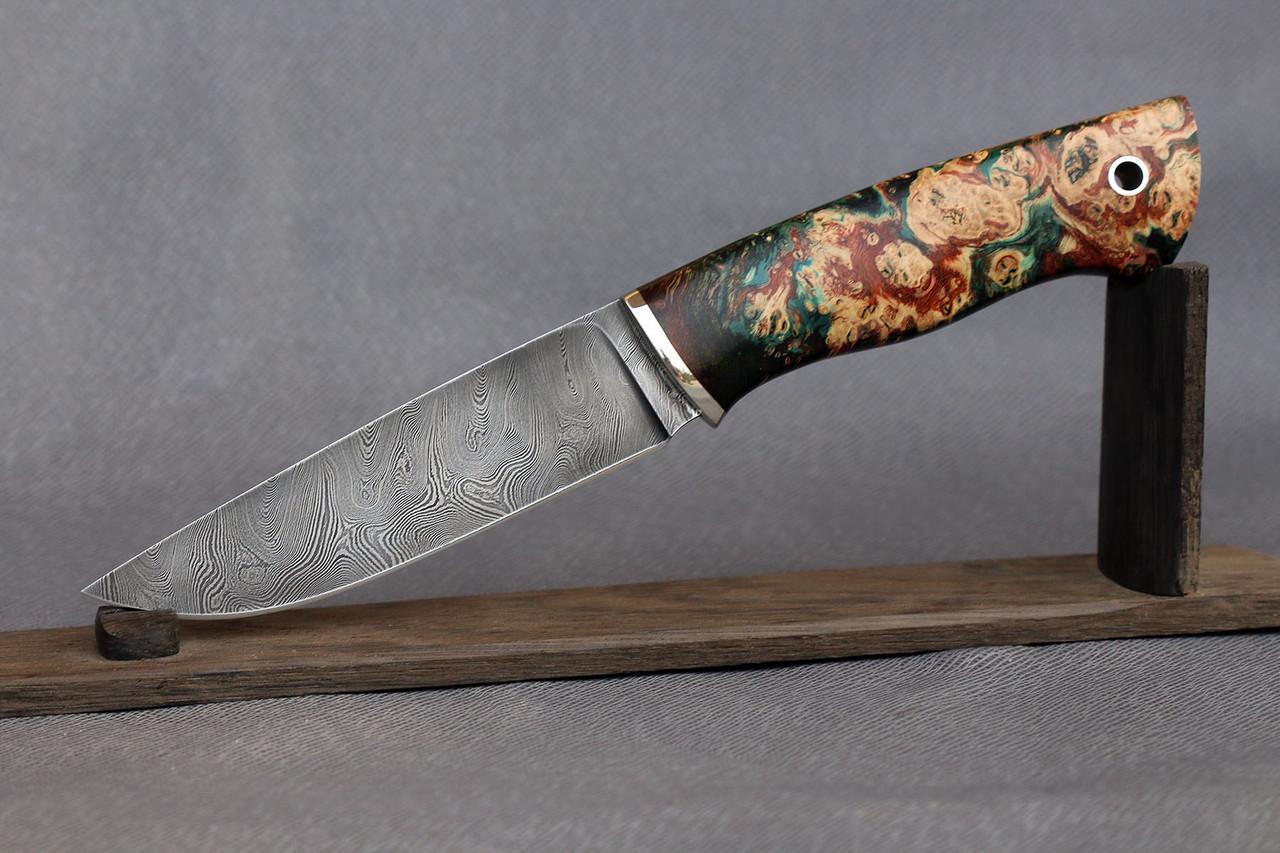 """Нож ручной работы из дамасской стали """"Greenknife"""""""