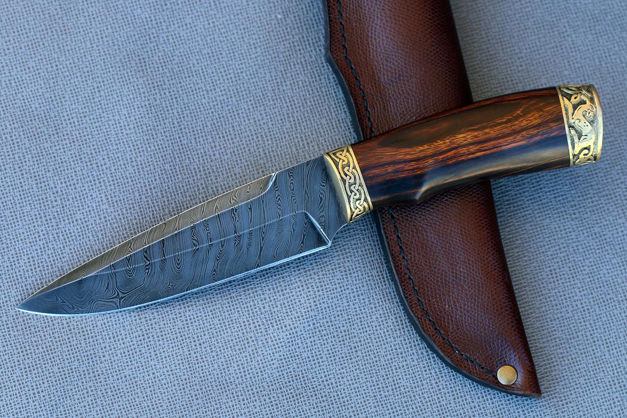"""Дамасский нож ручной работы """"Кельт"""""""