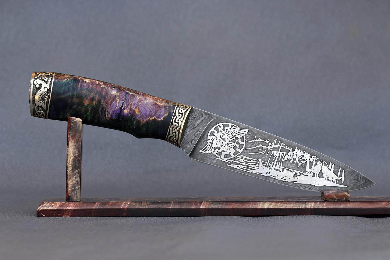 """Нож ручной работы """"Скандинав"""" из дамасской стали"""