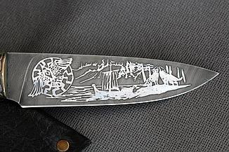 """Нож ручной работы """"Скандинав"""" из дамасской стали, фото 3"""