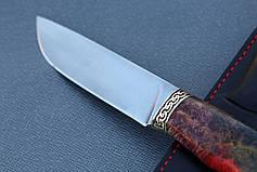 """Нож ручной работы """"Грифон"""" из порошковой стали Ди-90, мозаичный пин, длина 270 мм, фото 2"""