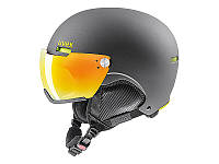 Горнолыжный шлем Uvex Hlmt 500 Visor Gun Lime Mat Litemirror Orange 2019