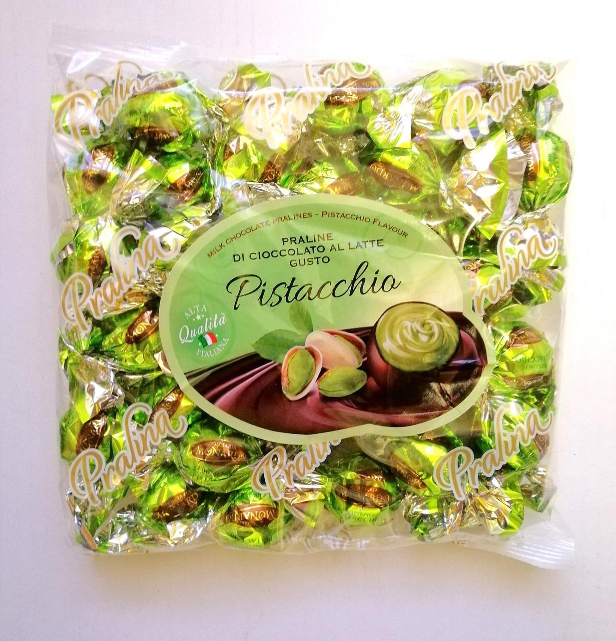 Шоколадные конфеты «Dolciaria Monardo Pralines» с фисташковым пралине 450 грамм, Италия