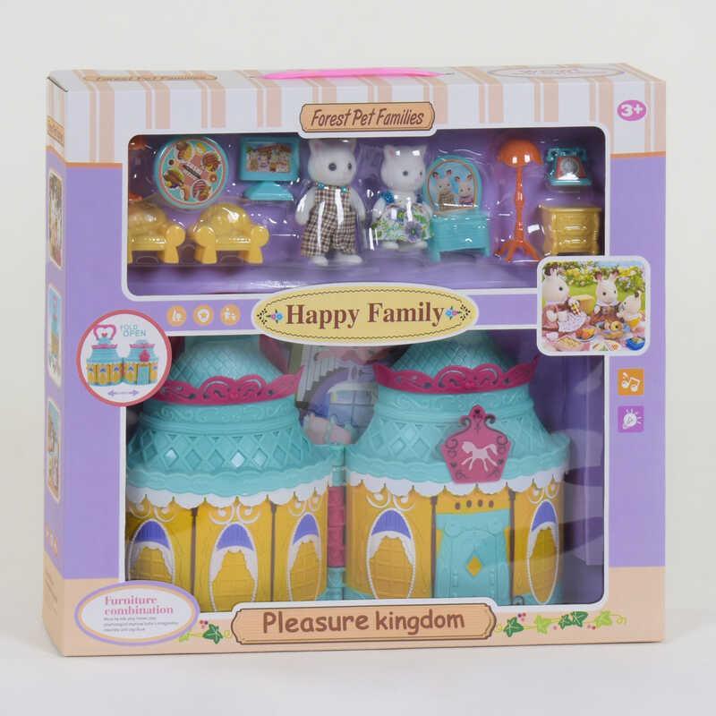"""Домик """"Счастливая семья"""" 20032 (24/2) 2 фигурки, с мебелью, световые и звуковые эффекты, в коробке"""
