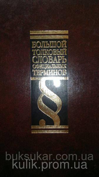 Ю. И. Фединский    Большой толковый словарь официальных терминов