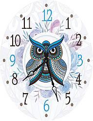 Часы овальные настенные СОВУШКА 46*60